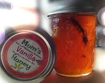 Organic Vanilla Infused Raw Honey ~ Madagascar Vanilla ~ Decadent Treats