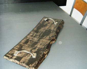 Meal serving Barbecue tray, industrial decor, upcycled and diversion