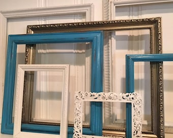 Picture Frame Set - Farmhouse Picture Frames - Wall Decor - Shabby Chic Frames - Distressed Frames -Nursery Decor - Gallery Wall