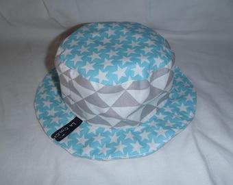 Hat - Reversible bucket Hat - 0-3 months (42 cm in diameter)