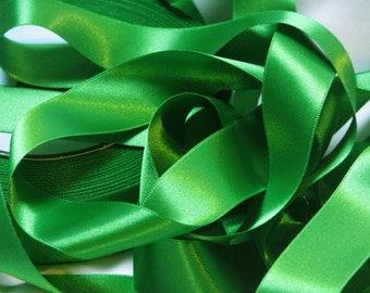 By the yard green satin ribbon