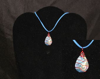 Abalone Shell Wire Wrapped Necklace