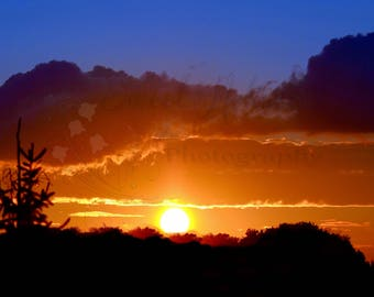 Sunset Photography, Nature Photography, Wall Art, Photography Print, Nature Print, Sunset Print
