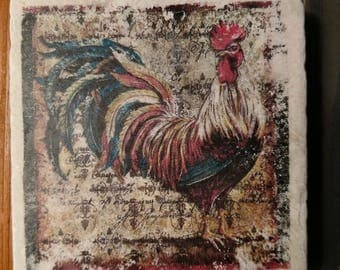 French Country Roosters, Kitchen Decor, Hostess Gift, Rooster Gift