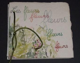 Artist's book - Flowers - signed original artwork