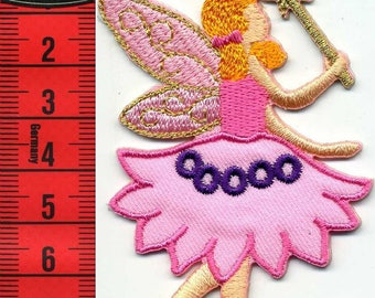 Fairy badge embroidered iron or sew on 9 x 5.5 cm. Patch applique
