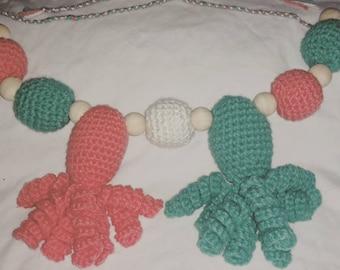 Octopus stroller toy