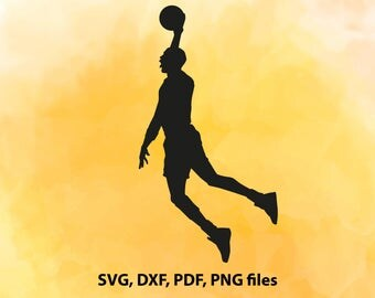 Basketball player DXF, Basketball Silhouette files, Basketball SVG File, Cut File, Basketball Cricut, Vector art, Sports cutting file