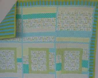 I Love Mommy and I Love Daddy Baby Quilt
