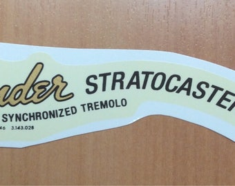Fender strat gold and black waterslide decal