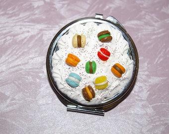 Mirror decoration whipped cream clay macaron