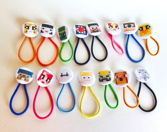 Stampy and Friends Birthday Party, Party Favors Set of 15, Stampy Cat, Stampy LongNose, Stampy Party Supplies, Bracelets, Hair Ties, Stampy