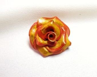 Cabochon flower bead * autumn sun * N ° 2