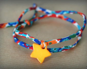 Orange cord Liberty Gleeson Spring bracelet