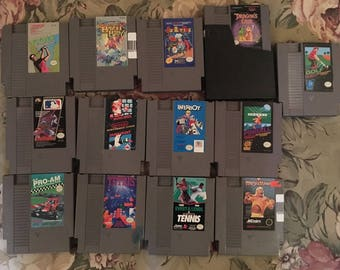 Dragons Lair BurgerTime Paperboy RC Pro Am SMB Duck Hunt NTSC Nes Game Lot x 13 Nintendo Original