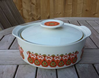 Meakin Studio Madrid Pattern Tureen Designed by Jessie Tait