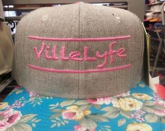 Villelyfe floral and pink snapback