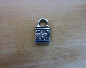 Silver padlock charm