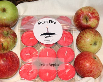 Fresh Apples 100% Soy Tea Light Candles Pack of 12