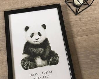 A4 Nursery Print - Baby Panda