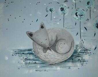 table Fox fleece format 30x30cm