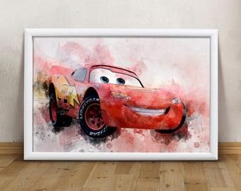 Disney cars room decor | Etsy