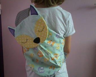 """Backpack """"sleepy little fox"""""""
