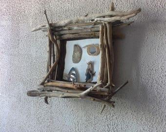 Beautiful mirror wooden float