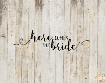 Here Comes The Bride Decal
