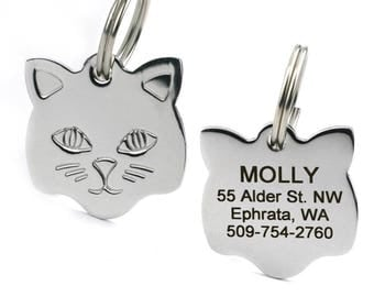 Personalized Cat Tags Stainless Steel Engraved Pet Id Tags Custom Name Usa