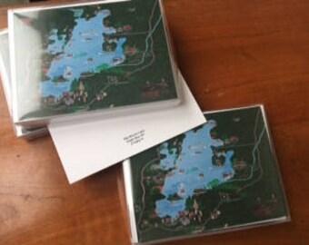 Big Moose Lake, Eagle Bay NY Note Cards