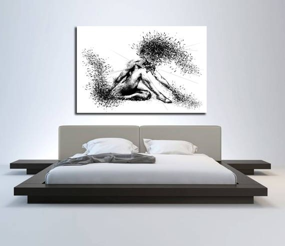 Canvas Art Sensual Bedroom Wall Decor Minimalist Abstract