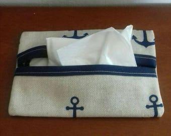 Marine cotton handkerchief case
