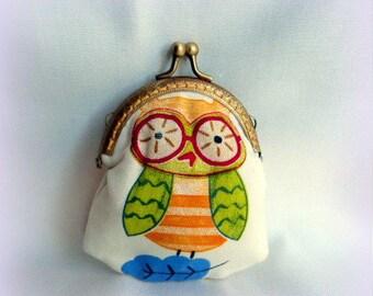 OWL design fabric purse!