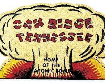 Vintage Style Oak Ridge TN Tennessee  Travel Decal sticker