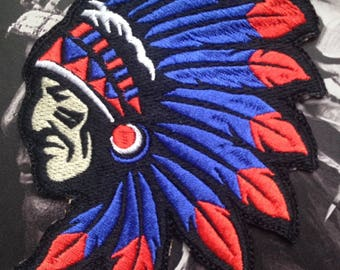 Indian Cheif Headdress Patch (various colors)