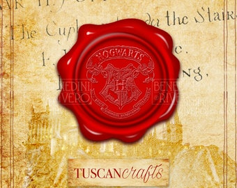 Set Harry Potter Hogwarts wax seal stamp | Harry Potter Party |  INSTANT DOWNLOAD |