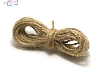 5 m cord 2 mm, beige, linen