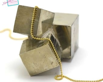 "1 meter of chain ""ball"" 1 mm, Golden 001"