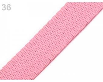 1 meter of strap 20 mm pink nylon