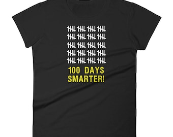 Women's 100 Days Smarter Tally 100th Day of School T-Shirt students teachers gift educators school milestone celebration education day 100