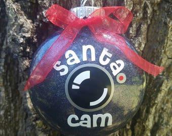 4in. Santa/Elf cam Ornament