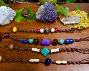 Brown Hemp Assorted Color Bracelets