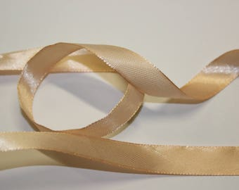 plain coral colored satin ribbon
