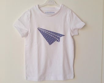 T-shirt with appliqué cotton Japanese origami effect