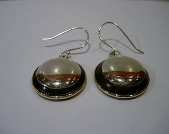 Earrings in silver and wood.