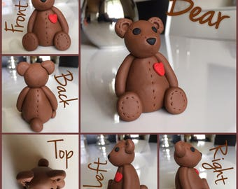Caramel bear with red heart