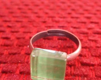 SEA GREEN GLASS RING