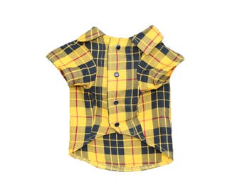 Dog Clothes MacLeod Shirt | Dog Shirt | Dog Apparel | Dog Shirts for Dogs | Pet Clothing | Plaid Print | Tartan Print