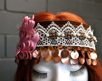 Boho Flapper Embellished Headband Hair Accessories Fantasy Festival Hair Jewellery